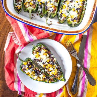 Beef Stuffed Poblano Peppers