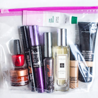 My Makeup Packing List