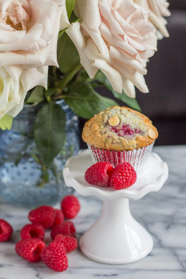 The BEST Muffin Recipe! Raspberry White Chocolate Muffins