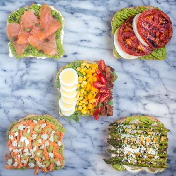 5 Ways to Make Avocado Toast for Dinner - easy and filling recipes for avocado toast loaded with fun toppings!