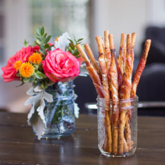 Goat Cheese and Prosciutto Wrapped Breadsticks