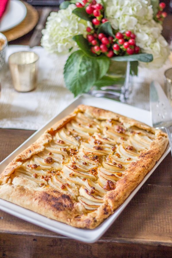 Caramelized Onion, Pear, and Blue Cheese Galette - thekittchen