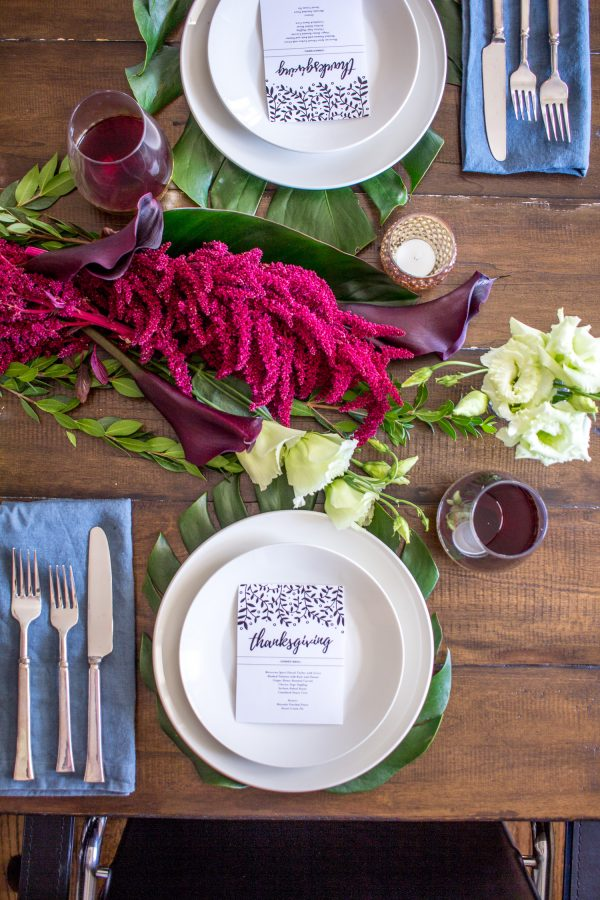 Flowers are one of the most important elements of a Thanksgiving table setting and this year I was inspired by the table settings at my friends\u0027 wedding. & An Exotic Thanksgiving Table Setting - thekittchen