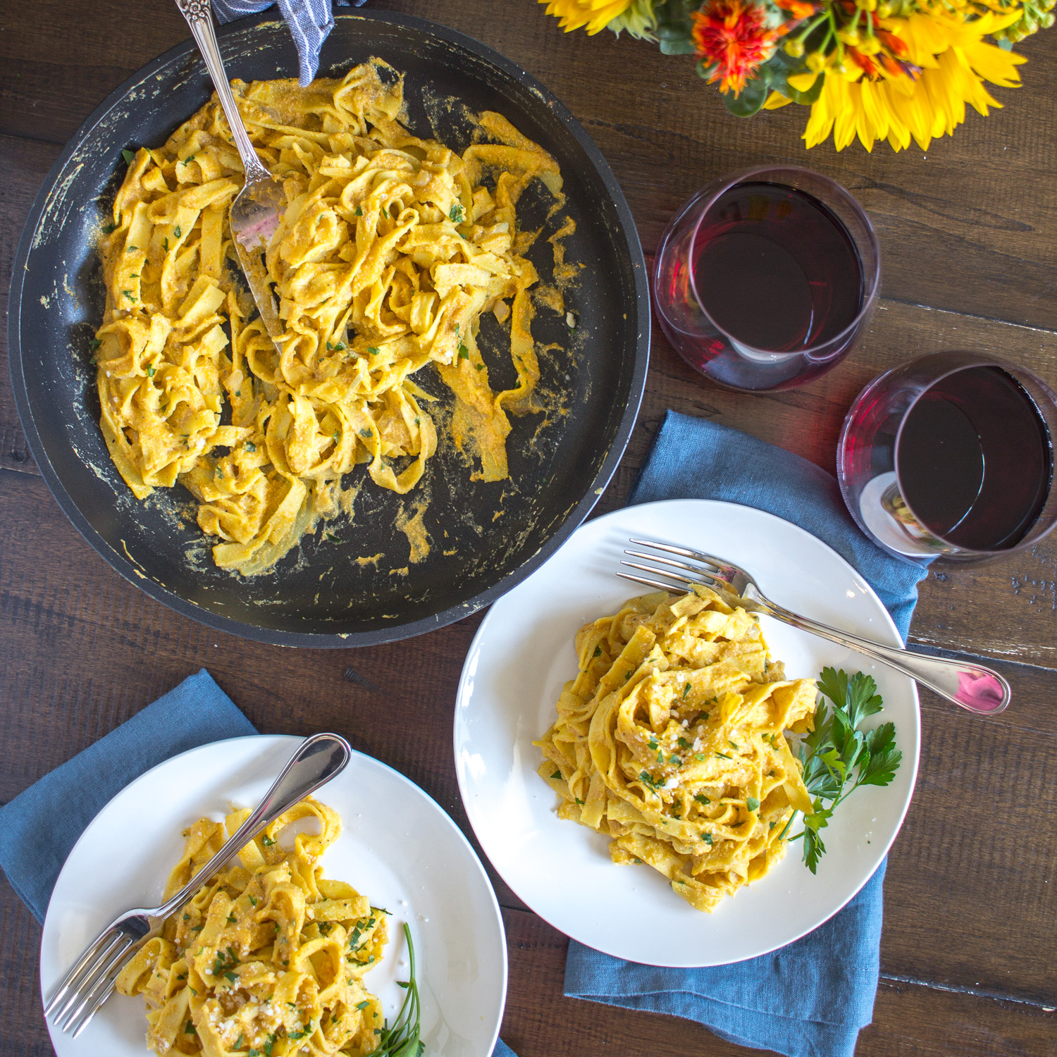 One Skillet Pumpkin Pasta