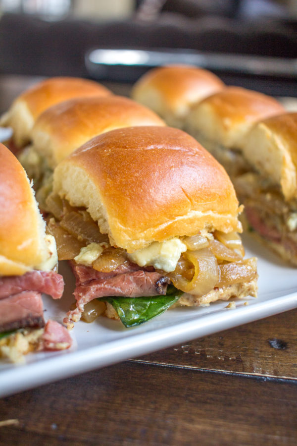 A simple roast beef sandwich slider recipe