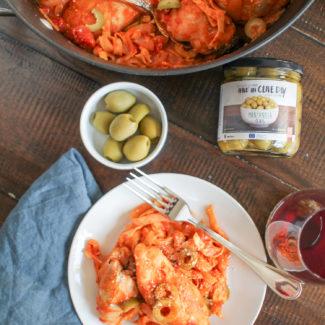 Spanish Olive, Lemon, and Tomato Chicken