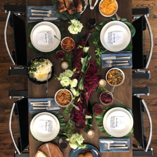 An Exotic Thanksgiving Table Setting