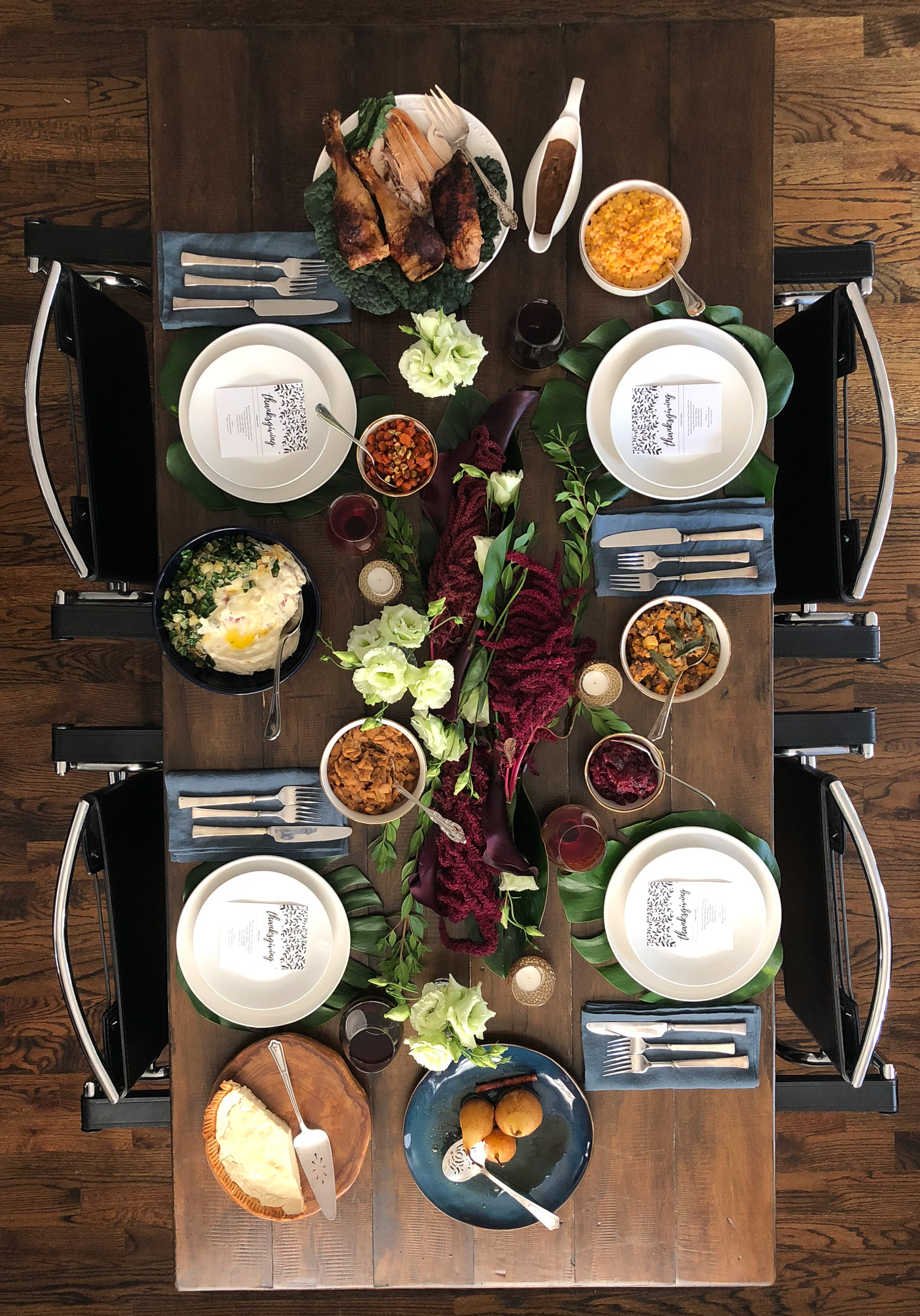 an exotic thanksgiving table setting thekittchen. Black Bedroom Furniture Sets. Home Design Ideas