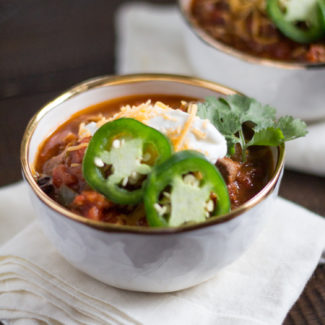 Hearty Steak Chili - an easy one pot meal that makes a lot of food!