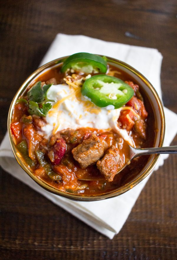 Hearty Steak Chili - An easy one pot recipe that your family will love!