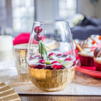 Winter Sangria Mocktail