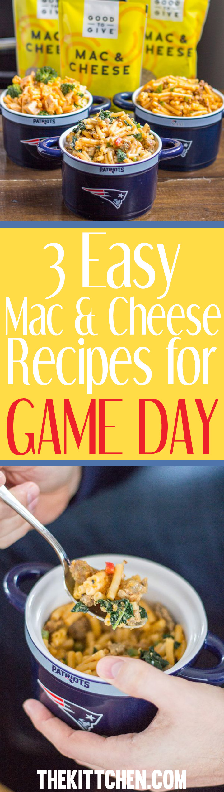 3 Easy Mac and Cheese Recipes made using boxed macaroni and cheese! A perfect weeknight dinner recipe.