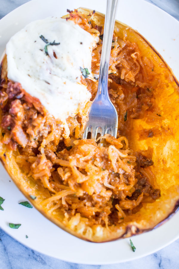 An easy and delicious recipe for Stuffed Spaghetti Squash