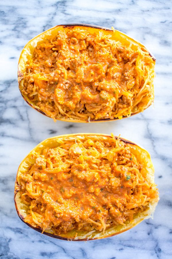 How to make Stuffed Spaghetti Squash - via thekittchen.com