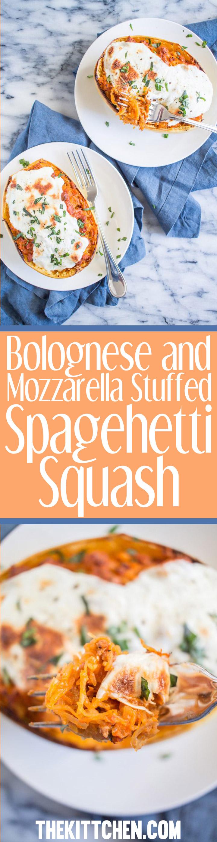 Bolognese and mozzarella stuffed spaghetti squash for Things to do with spaghetti squash
