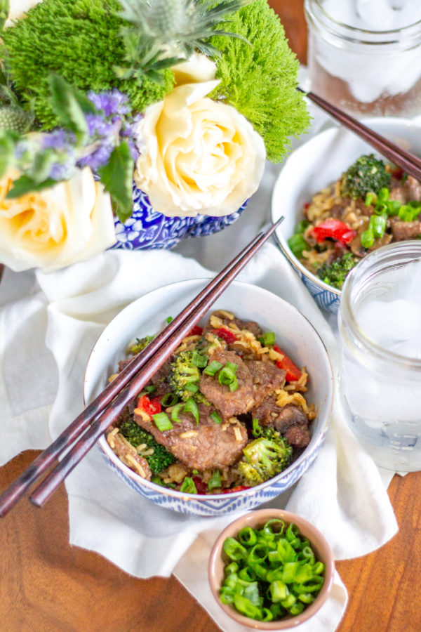 Ginger Garlic Beef and Broccoli Stir Fry | Sometimes the most delicious foods are not the prettiest. That is the case with this Ginger Beef and Broccoli Stir Fry. I absolutely love the way it tastes, but it isn't the prettiest meal.
