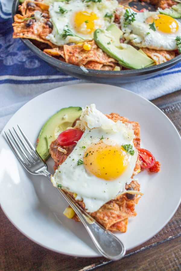 Chilaquiles are the best breakfast recipe.