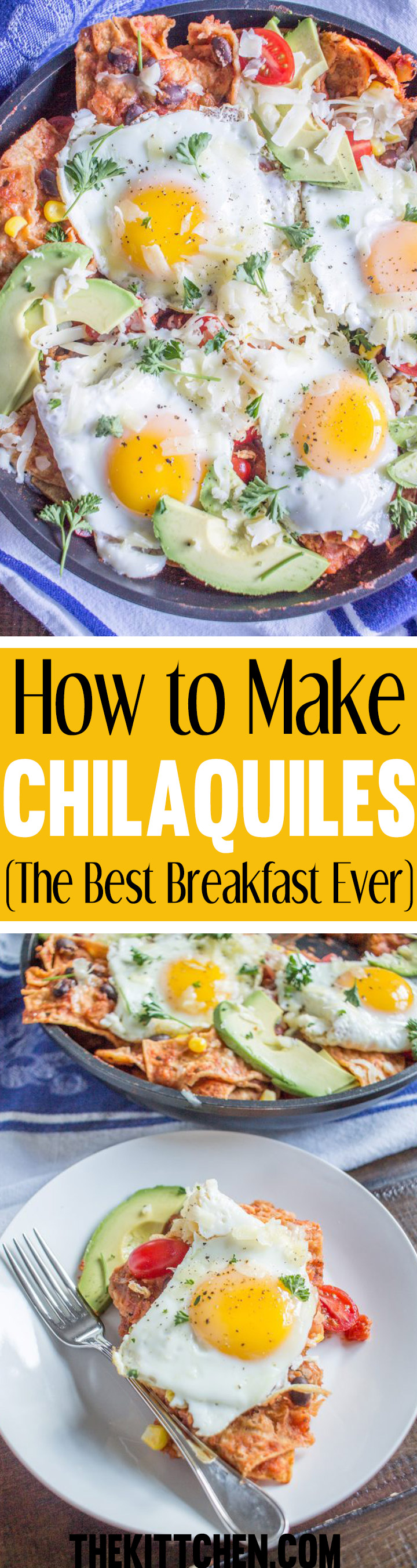 Learn how to make chilaquiles. In my humble opinion, this is the best breakfast ever. Plus, it is likely that you have all of the ingredients waiting for you in your kitchen.