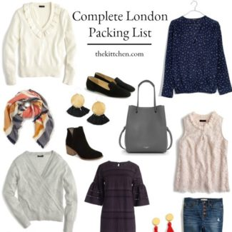 London Packing List