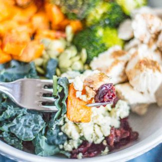 Chicken, Sweet Potato, and Kale Bowls