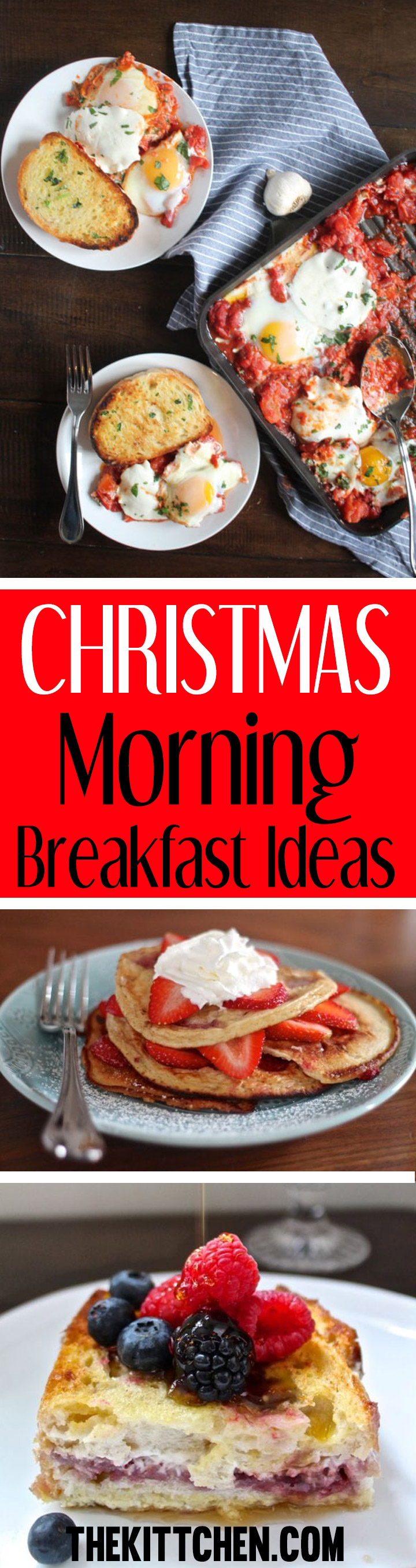 Christmas morning breakfast should be special, and today I am sharing a list of christmas morning breakfast ideas ranging from sweet to savory. Some of these breakfasts can even be made ahead.