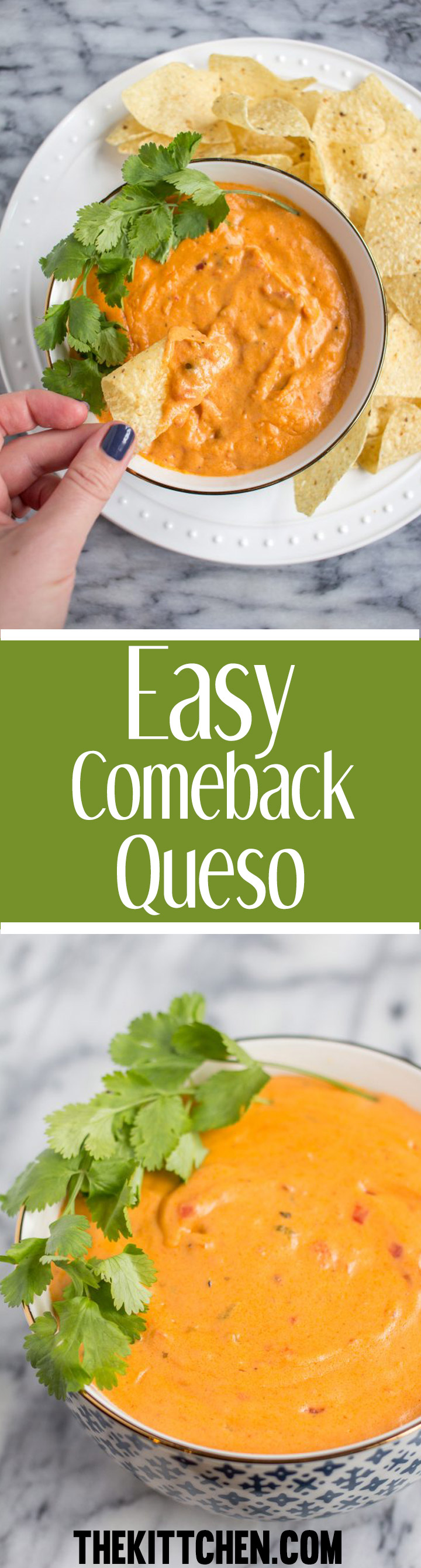 How to make Comeback Queso - a queso seasoned with comeback sauce seasonings.