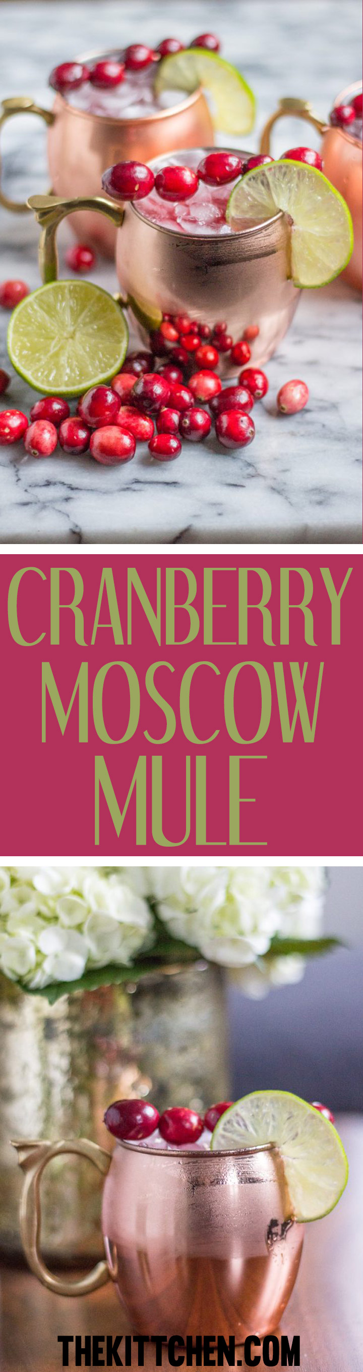 Cranberry Moscow Mule Recipe - This Cranberry Moscow Mule is perfectly on trend and festive!