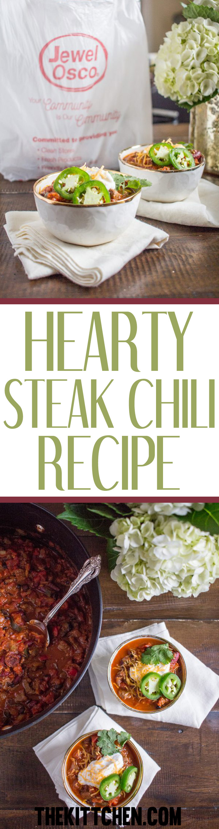 This hearty steak chili recipe is a delicious easy to prepare meal that you will be making on repeat all winter long