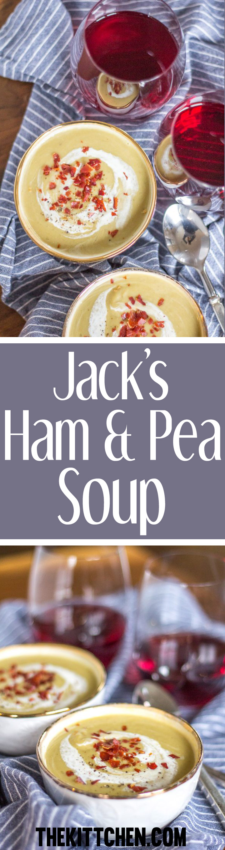 Ham and Pea soup is a rich creamy soup recipe, and it is the perfect meal to prepare using leftover ham.