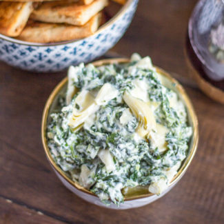 Reduced Fat Spinach Artichoke Dip