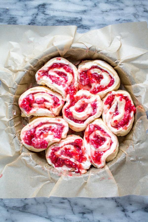 Raspberry Cream Cheese Danish using crescent roll dough
