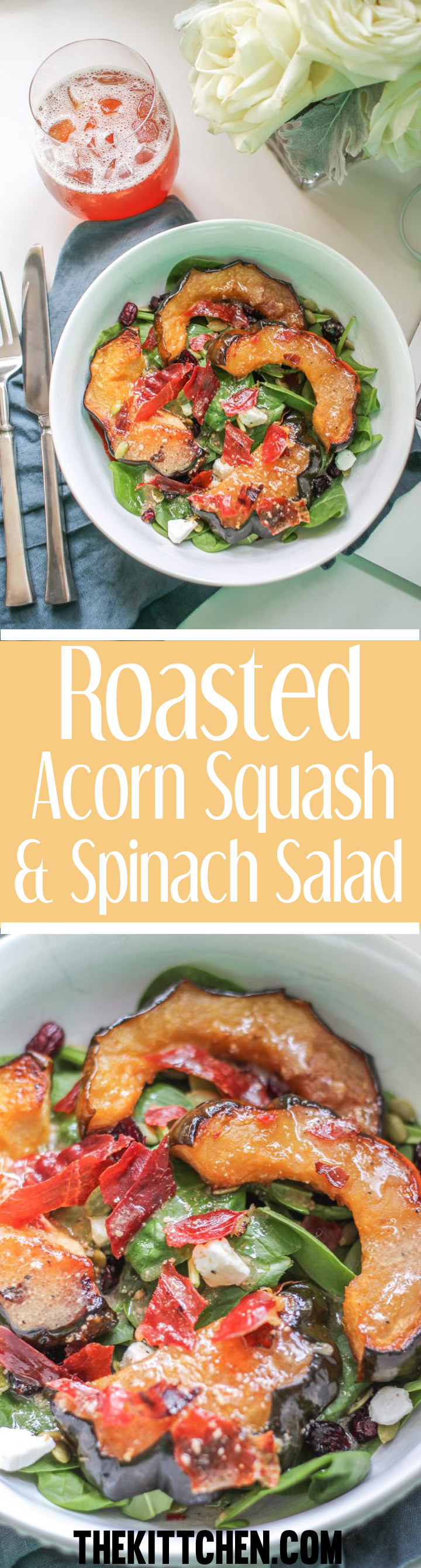 Roasted Acorn Squash and Spinach Salad - an incredible salad recipe.