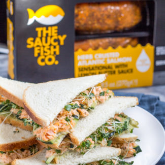 Salmon Avocado Sandwiches with The Saucy Fish Co.