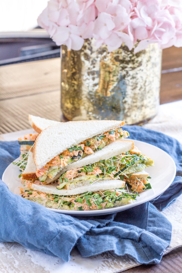 Salmon Avocado Sandwiches Recipe - via thekittchen