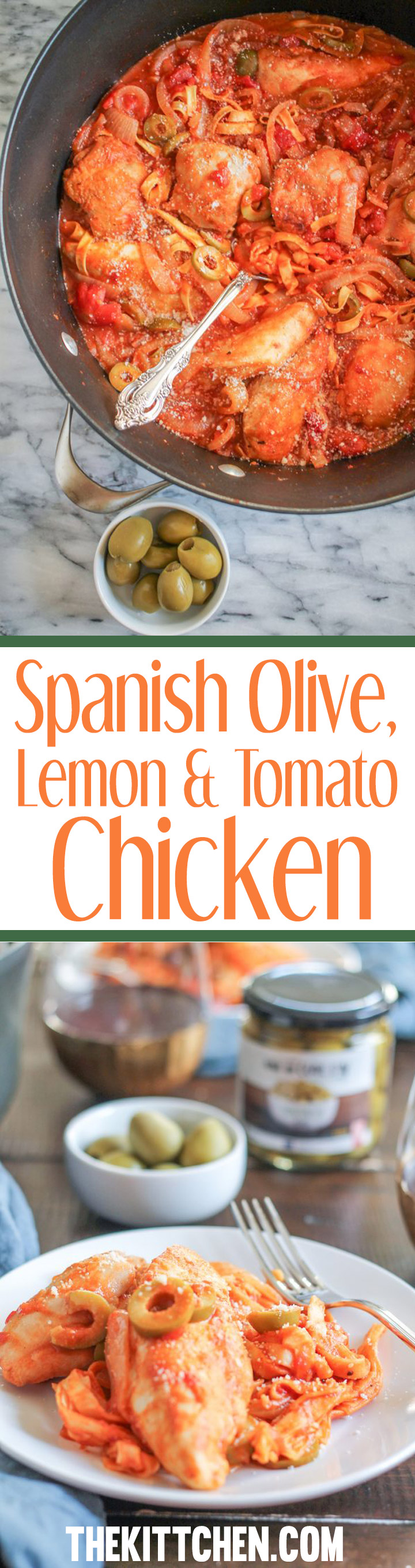 This Spanish Olive, Lemon, and Tomato Chicken is an easy weeknight meal that your family will love. The best part is that the entire meal is made in a dutch oven so clean up is easy!
