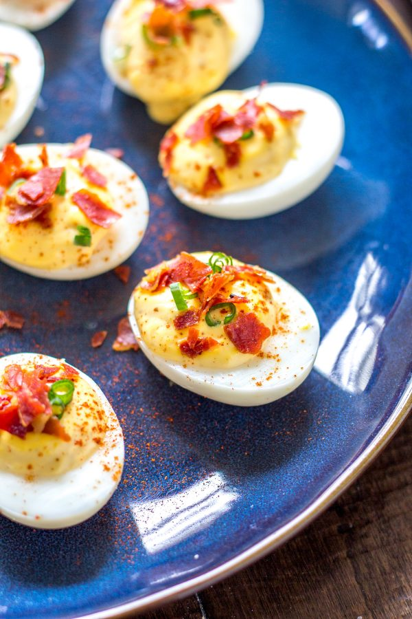 The Best Deviled Eggs - a 15-minute recipe for deviled eggs with a crispy prosciutto garnish.
