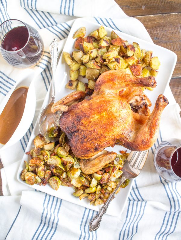 Learn how to roast Beer Can Chicken in the oven with this super simple 4 ingredient recipe!