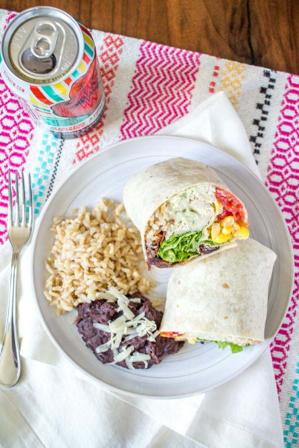 Ranch Chicken Avocado Bacon Burritos - a delicious 20 minute dinner recipe loaded with veggies!