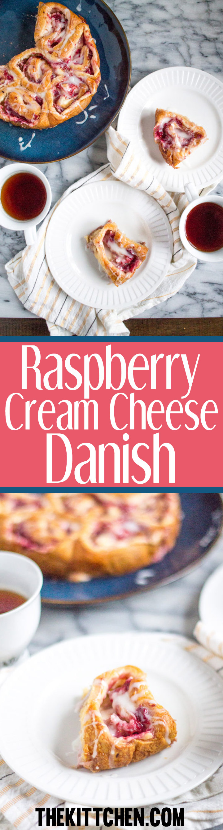 ThisRaspberry Cream Cheese Danish is an easy to prepare breakfast treat that takes just 10 minutes of active preparation time. It is a weekend breakfast your family will love.