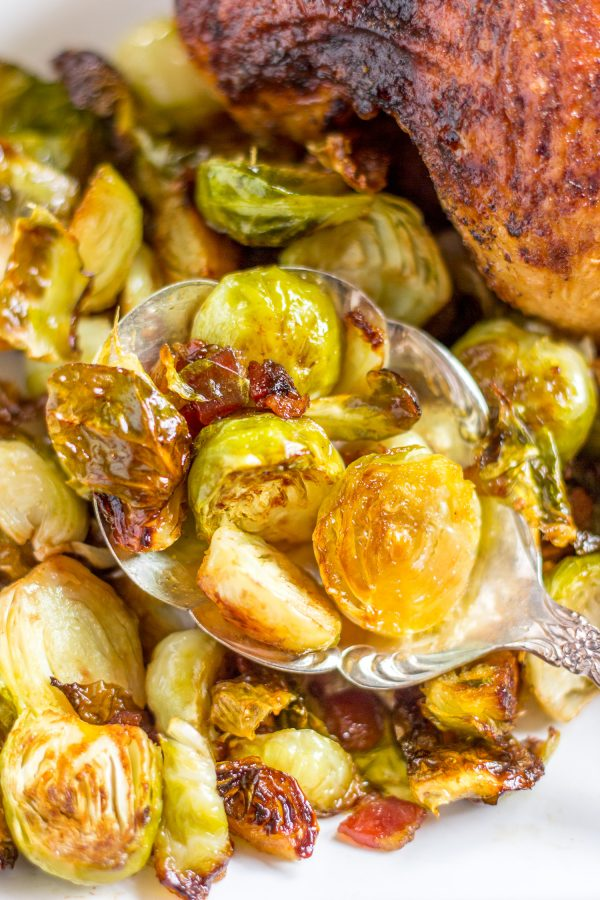 Roasted Bacon Maple Brussels Sprouts Recipe