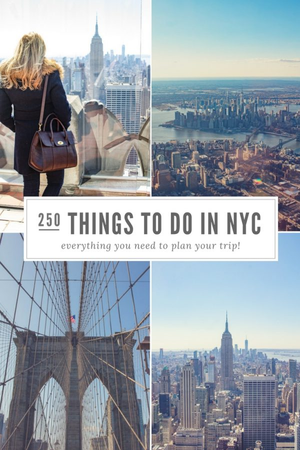 250 Things to Do in NYC - Over 250 of the best things to do in New York City - museums, parks, historical sites, restaurants, bars, hotels, and more!