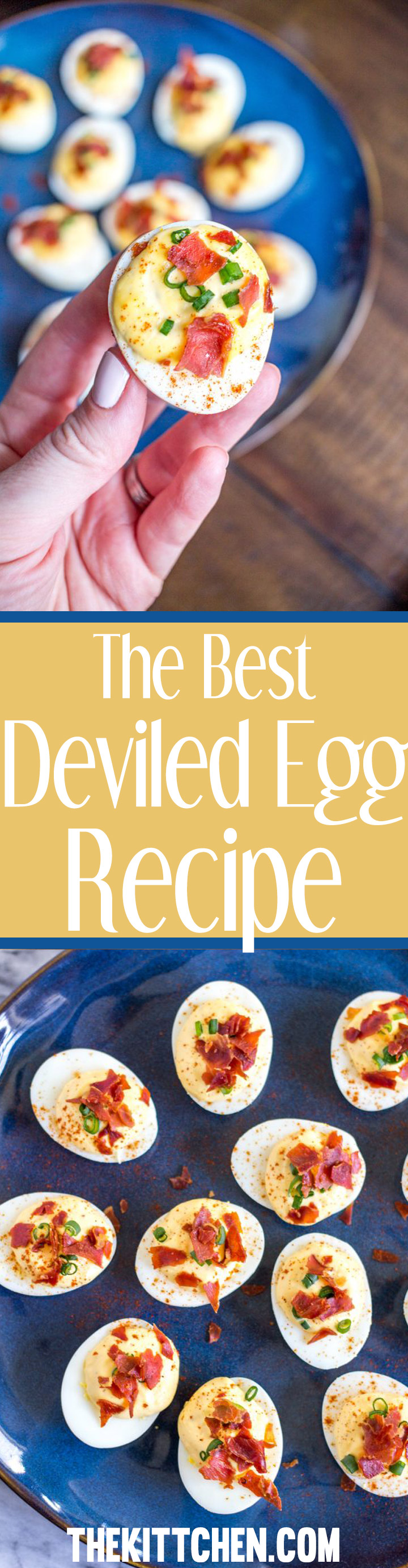 This is the best deviled egg recipe - these deviled eggs have the perfect balance of richness from the egg yolk and mayonnaise plus seasoning from mustard, lemon, and sriracha. A crispy prosciutto garnish makes this deviled egg recipe extra special.