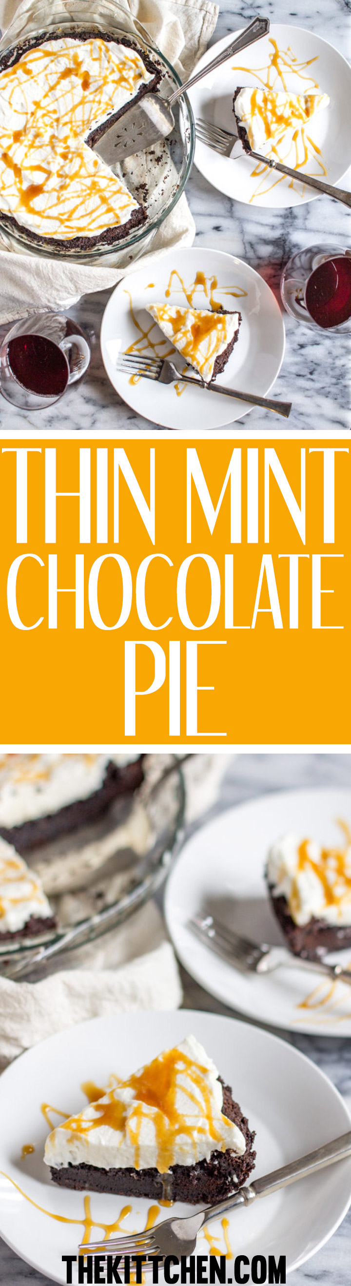 This decadent thin mint chocolate pie has a thin mint cookie crust a rich moist chocolate center topped with freshly whipped cream. When it comes to baking, this is one of the easiest recipes out there, it takes just minutes of active preparation time to make.