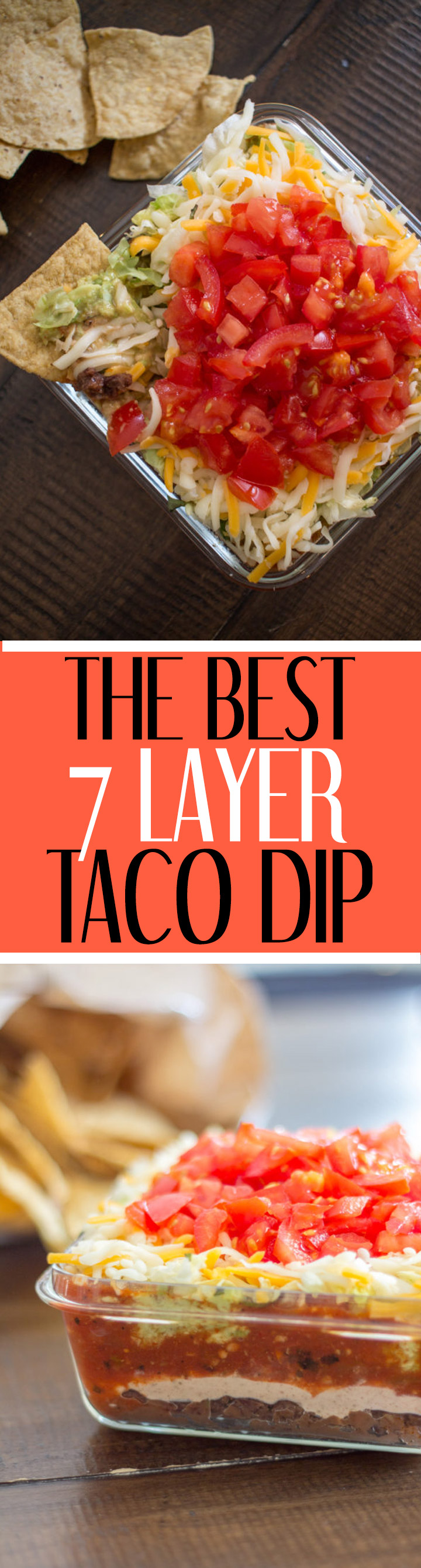 A quick and easy recipe for homemade 7 Layer Taco Dip. This crowdpleasing appetizer is sure to be a hit at your next party. This taco dip recipe requires no cooking and takes just 5 minutes to prepare!