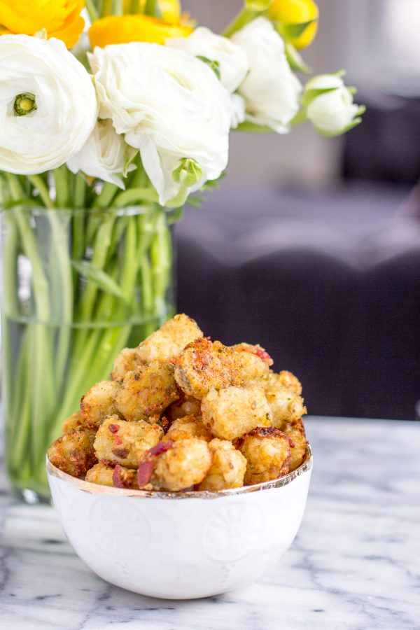 Bacon Ranch Tater Tots - are the ultimate brunch side dish. This recipe is an easy way to upgrade store-bought tater tots with just 5 added minutes of preparation time.