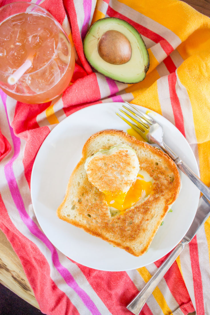 Avocado Cheddar Grilled Cheese Egg in the Hole