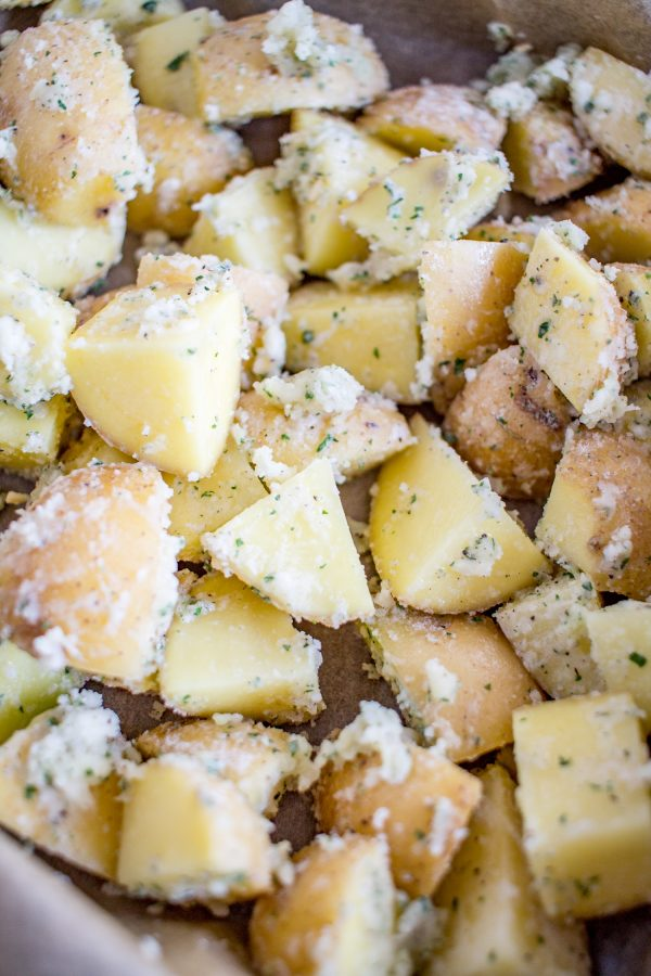 How to make Garlic Parmesan Ranch Roasted Potatoes