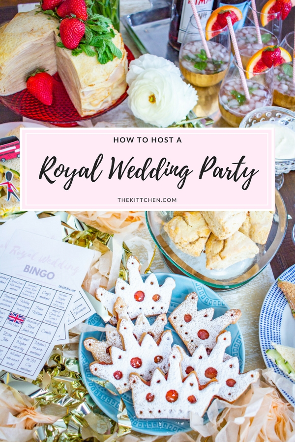 How to Throw a Royal Wedding Watch Party - complete with an Afternoon Tea themed menu and Royal Wedding Bingo!