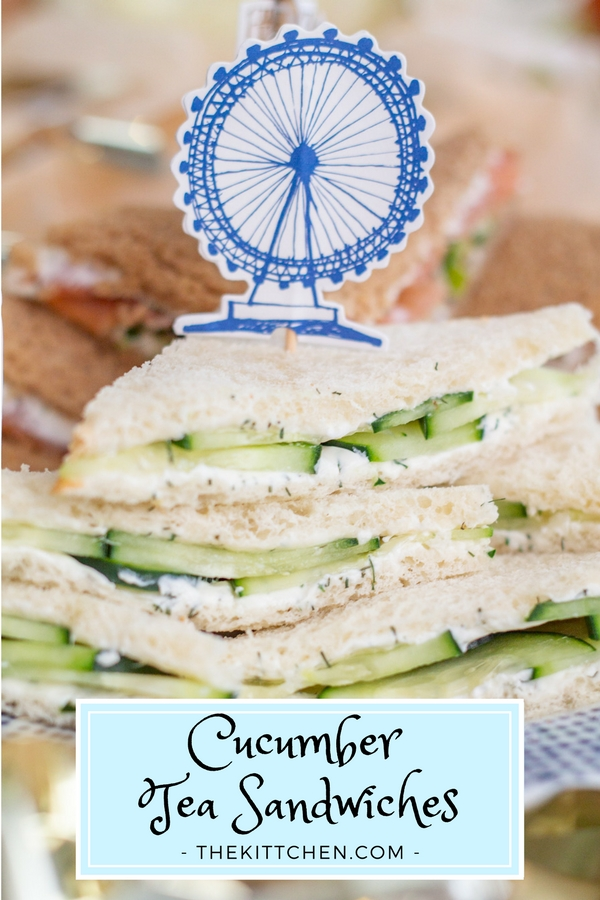 How to make Cucumber Sandwiches | The super simple classic cucumber sandwiches are an Afternoon Tea essential! Serve them at an Afternoon Tea, shower, brunch, or Royal Wedding Viewing Party! #teasandwiches #royalwedding #babyshower #bridalshower #londonparty #afternoontea