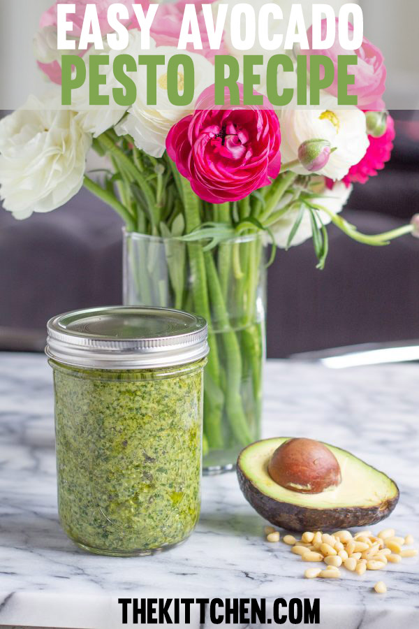 Easy Avocado Pesto Recipe   The avocado adds a creamy texture to the pesto, without changing the flavor profile.